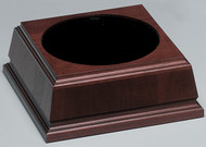 "Base - Walnut Royal Finish 7.75"" Square / 2.75"" High"