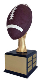 Fantasy Football Full Size Color FOOTBALL Perpetual Trophy | Engraved FFL Award - 15.5 Inch Tall