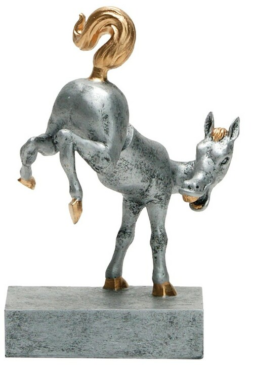 Horse's Rear Bobblehead Trophy | Engraved Last Place Loser Award | Kick Butt Prize - 5.5 Inch Tall