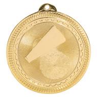 Cheer BriteLazer Medal - Gold, Silver & Bronze   Engraved Spirit Medallion   2 Inch Wide Cheer BriteLazer Medal - Gold
