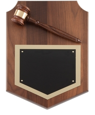 Genuine Walnut Gavel Plaque 1