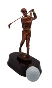 "Golf Old Fashioned Golfer Trophy - 8.5"" Tall - Clearance"