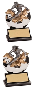Soccer Xploding Action Trophy - Male / Female | Engraved Fútbol Award - 5/25 Inch Tall