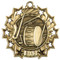 Band Ten Star Medal - Gold, Silver or Bronze | Musician 10 Star Medallion | 2.25 Inch Wide Band Ten Star Medal - Gold
