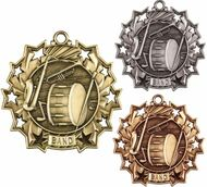 Band Ten Star Medal - Gold, Silver & Bronze | Musician 10 Star Award | 2.25 Inch Wide
