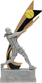Signature Series Softball Live Action Resin Trophy