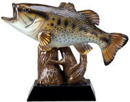 Bass Fish Resin Sculpture / Trophy