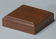 "Walnut Base - Natural Finish 4"" Square"