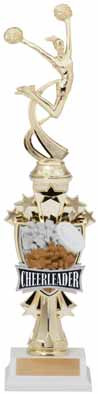Cheerleading Sport Motion All Star Trophy
