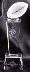 Football Crystal Collegiate Series Trophy | Crystal Football Award | 8.25 Inch Tall