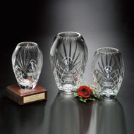 Durham Barrel Vase Crystal Award - 3 sizes
