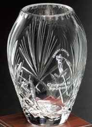 Durham Barrel Vase Crystal Award - Small