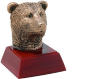Bear Mascot Sculptured Trophy | Engraved Bear Award - 4 Inch Tall