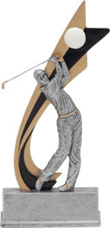 Golf Signature Series Live Action Resin Trophy - Male - Clearance