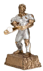"Baseball Monster Trophy | Engraved Baseball Beast Award - 6.75"" and 9.5"""