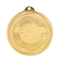 Volleyball BriteLazer Medal - Gold, Silver & Bronze | Engraved Spike & Dig Medallion | 2 Inch Wide Volleyball BriteLazer Medal - Gold