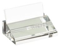 Crystal Business Card Holder - Personalized