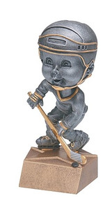 Pewter Hockey Bobblehead Trophy - Male