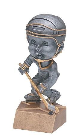 Pewter Hockey Bobblehead Trophy - Male