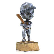 Pewter Softball Bobblehead Trophy