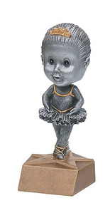 Pewter Dance Bobblehead Trophy