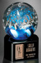 "Art Glass Trophy - Celebration | Artistic Corporate Award - 5.5"" Art Glass Award"