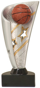 Basketball Banner Resin Trophy - Clearance