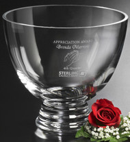 Clear Crystal Pedestal Bowl Corporate Award / Gift