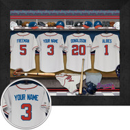 Atlanta Braves Locker Room Print - Personalized