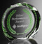 Achiever Crystal Award - with green colorfill