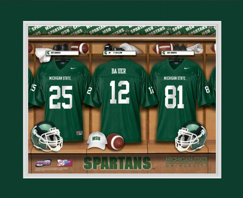 low cost 1729a f6211 Michigan State Spartans Football Locker Room Print - Personalized