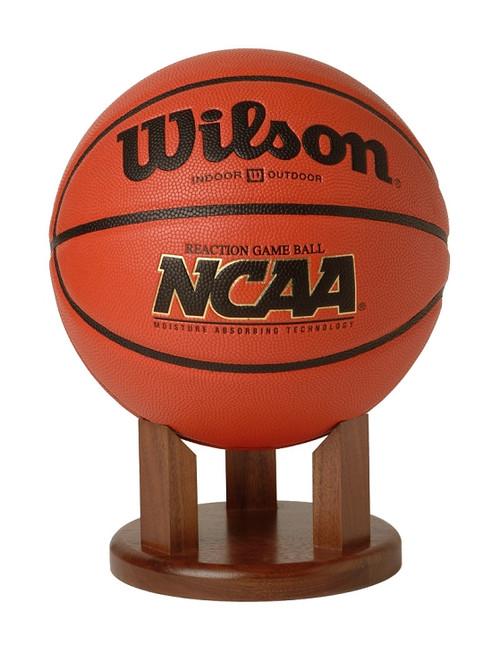 "Basketball Stand / Holder - Solid Walnut - 4"""
