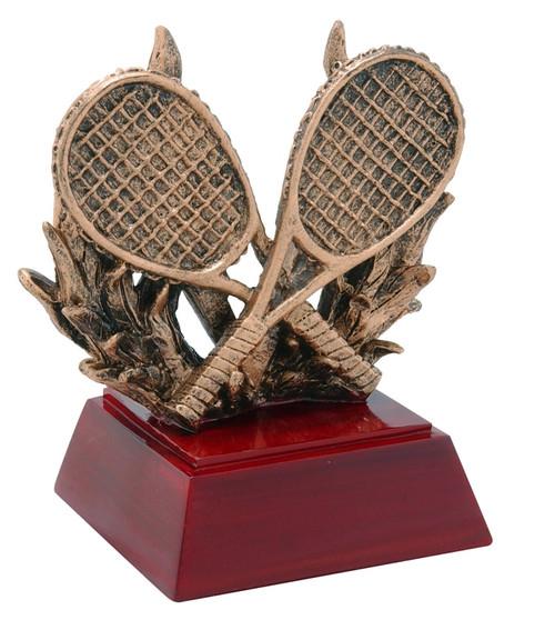 Tennis Sculptured Trophy | Engraved Tennis Award - 4 Inch Tall