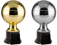 Full Size Gold or Silver Volleyball Resin Trophy