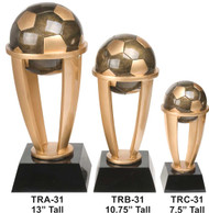 Soccer Tower Trophy - 3 Sizes | Fútbol Award