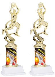 Basketball Sport Motion Figure w/ Sports Column Trophy - Male / Female
