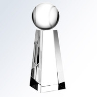 Crystal Tennis Tower Trophy