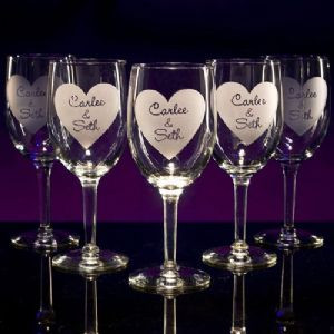 Wine Goblet Glasses - Personalized