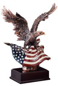 Eagle & Flag Bronze Trophy