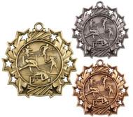 Track & Field Ten Star Medal - Gold, Silver & Bronze | Field Event 10 Star Award | 2.25 Inch Wide
