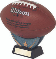 Football Signature Series Holder   Game Ball Football Stand   4 Inch Tall