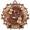 Orchestra Ten Star Medal - Gold, Silver or Bronze   Symphony 10 Star Medallion   2.25 Inch Wide Orchestra Ten Star Medal - Bronze