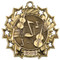 Orchestra Ten Star Medal - Gold, Silver or Bronze   Symphony 10 Star Medallion   2.25 Inch Wide Orchestra Ten Star Medal - Gold