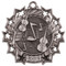 Orchestra Ten Star Medal - Gold, Silver or Bronze   Symphony 10 Star Medallion   2.25 Inch Wide Orchestra Ten Star Medal - Silver