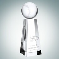 Crystal Baseball Tower Trophy