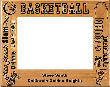 Basketball Male Picture Frame - Personalized