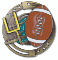 Football M3XL Medal | Engraved Gridiron Medallion | 2.75 Inch Wide