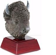 Buffalo/Bison Mascot Sculptured Trophy | Engraved Buffalo Award - 4 Inch Tall