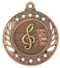 Music Galaxy Medal - Gold, Silver & Bronze | Engraved Band Medallion | 2.25 Inch Wide Music Galaxy Medal - Bronze