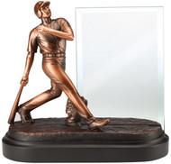 Baseball Story Glass Award | Engraved Baseball Sport Hero Award - 7 1/4 Inch Tall (RFB308)